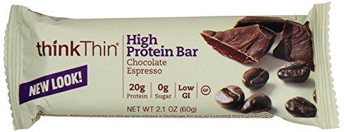Thinkthin Chocolate Espresso, Gluten Free, 2.1-Ounce Bars (Pack Of 10)