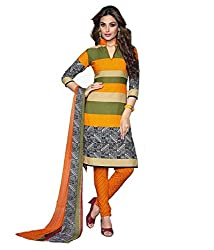 Varsha Womens Synthetic Unstitched Dress Material (9166 _Yellow)