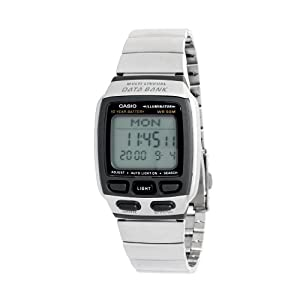 Casio Men's Data Bank DB37HD-7AV Grey Resin Quartz Watch with Digital Dial