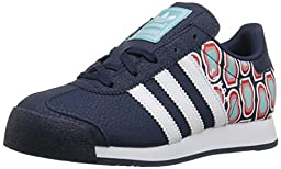 adidas Originals Samoa Sneaker (Little Kid/Big Kid), Collegiate Navy/White/Blue Spirit, 2.5 M US Little Kid