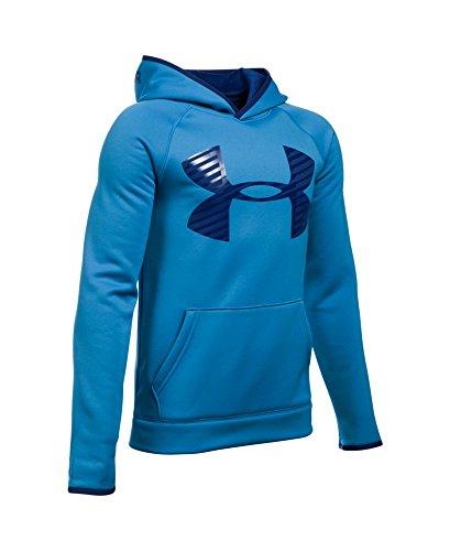 Under Armour Boys' Storm Armour Fleece Highlight Big Logo Hoodie, Brilliant Blue (787), Youth Small