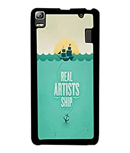 PrintVisa Metal Printed Quotes Designer Back Case Cover for Lenovo A7000-D4660