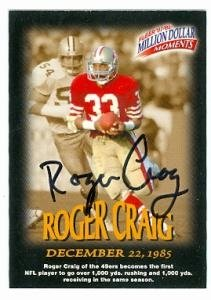 Roger Craig Autographed/Hand Signed Football Card (San Francisco 49ers) 1997 1998 Fleer Million Doll at Amazon.com