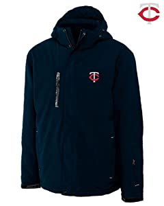 Minnesota Twins Mens WeatherTec Sanders Jacket Navy Blue by Cutter & Buck