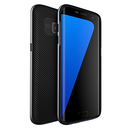 Cover Samsung Galaxy S7 edge , ivencase [Stile Anti-Scratch] [Hybrid Silicone + Elegante PC Bumper] Premio Structure Doppio Strato Armatura Protettiva Strane Custodia per Galaxy S7 edge