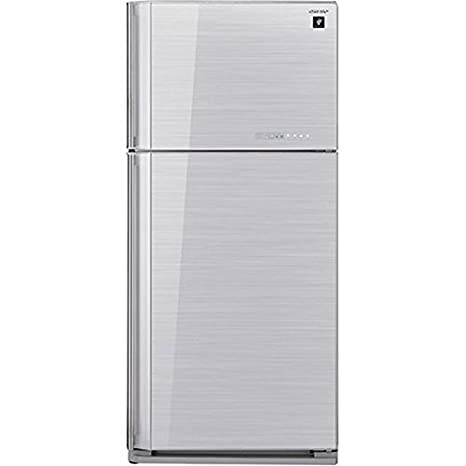 SHARP-Réfrigérateur 2 portes-Couleur : silver