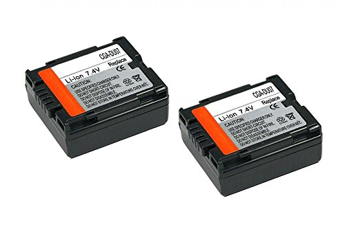 2x Akku wie Panasonic CGA-DU07 für Panasonic: NV-GS280 / NV-GS30 / NV-GS300 / NV-GS300EG-S / NV-GS320 / NV-GS35