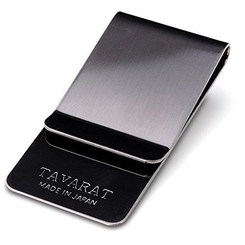 (タバラット)TAVARAT 日本製 マネークリップ 真鍮製 (ブラックイブシ) Tps-006_bi