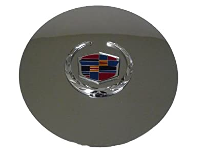 Set of 4 Otis Inc LA Cadillac Escalade Chrome Wheel Center Cap with Chrome Wreath and Crest