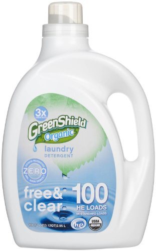 Green Shield Organic - USDA Certified Free and Clear Laundry Detergent - 100 oz.