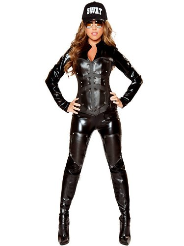 Women's Sexy Bullet Proof SWAT Babe Deluxe Costume