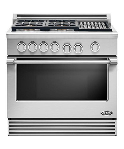 "Dcs Rdv364Gln 36"" Pro-Style Slide-In Dual Fuel Range - Natural Gas"