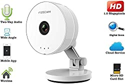 IFITech Foscam C1 Lite Indoor HD 720P Wireless IP Camera with Super Wide 115, Viewing Angle, Dual Audio, Motion Detection, and More (White)