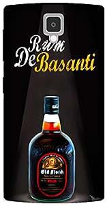 The Racoon Lean Rum de Basanti hard plastic printed back case for Lenovo A1000