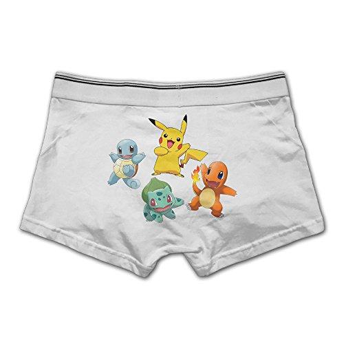 Men's Stretch Underwear Full-Cut Briefs Pokemon Retro Starter Group (Mens Briefs Underwear Starter compare prices)