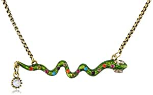 """Betsey Johnson """"St. Barts"""" Snake and Crystal Necklace, 19"""""""