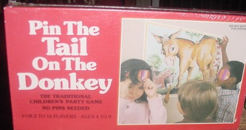 PIN THE TAIL ON THE DONKEY 1981 NEW UNOPENED GAME - 1