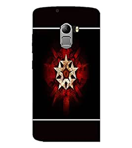 PrintDhaba Star Pattern D-1319 Back Case Cover for LENOVO K4 NOTE A7010 (Multi-Coloured)