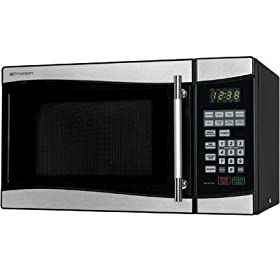 New Emerson Radio Corp Mw8889sb Microwave Oven Single 0.80 Ft? 900w Stainless Steel 110 V Ac Bake
