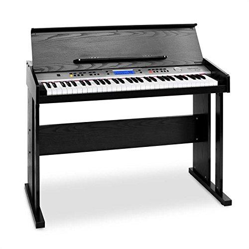 Schubert Carnegy-61E-Piano 61 Tasten Klavier elektisch (Begleit- Aufnahme- und Lernfunktion, vorinstallierte Instrumente, Rhythmen und Demo, MIDI, integr. Lautsprecher, Pedal-Anschluss) schwarz