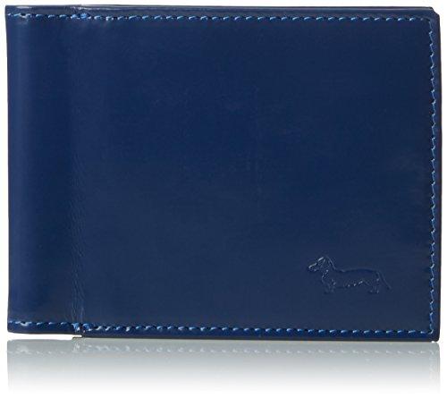 Harmont & Blaine - Portafogli in Pelle J006587, Uomo, Blu (Bluette / Nero), Taglia Unica