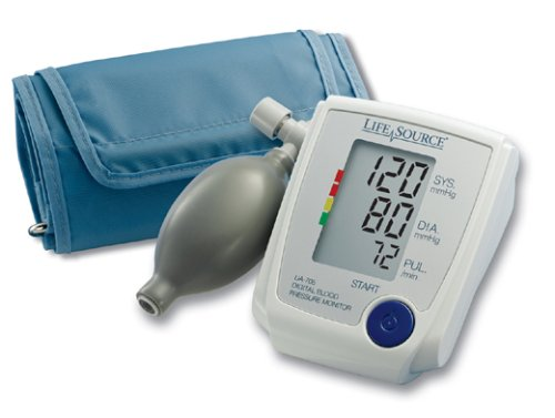 LifeSource UA-705VL Advanced Manual Inflate Blood Pressure Monitor with Large Cuff and Pressure Rating Indicator