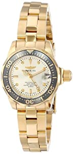 Invicta Pro Diver Champagne Dial 18kt Gold Ion-plated Ladies Watch 14987 by Invicta