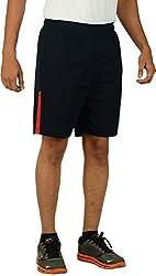 KANTER Men's Knitted Fabric Shorts (KSS-Gym-Navy-R_XL, XL, Navy Blue)