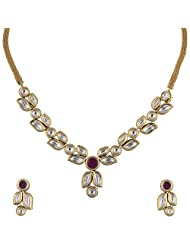 Ashapura Gold Plated Necklace With Studs For Women - N0226