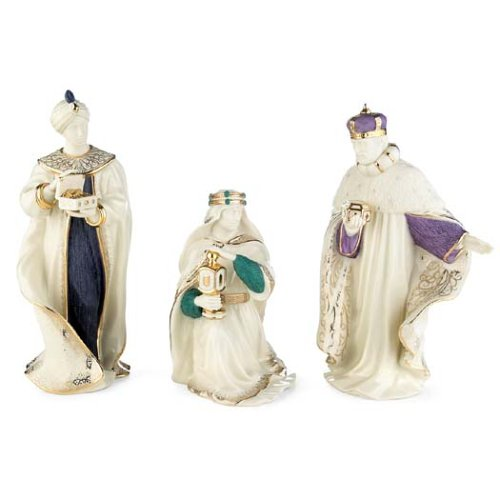 Lenox First Blessing Porcelain 3-Piece Nativity Figurines, The Three Kings