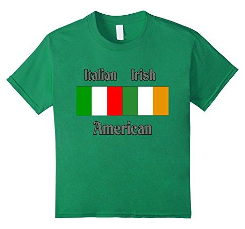 Kids Italian Irish American t-shirt 8 Kelly Green (Kids Italian Shirts compare prices)