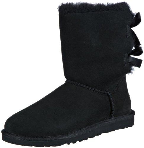 ugg-w-bailey-bow-bottes-a-enfiler-femme-noir-schwarz-black-36-eu