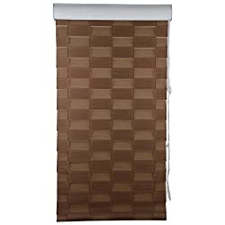 Furnishing Gaarden Verman Window Blinds- 5 ft x 5 ft, Brown