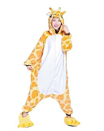 Keral Kigurumi Pajamas Adult Anime Cosplay Halloween Costume Outfit Giraffe S