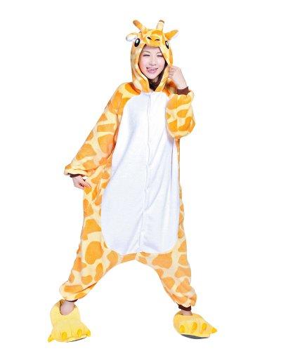 Keral Kigurumi Pigiama Adulto Anime Cosplay Halloween Costume Attrezzatura_Giraffa_M