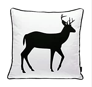 Amazon.com - Cushion Cover Cojines Black White Bed Printed Animal