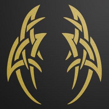 Tribal tattoo style... Gold-Matte (10 X 4 inch) W754X