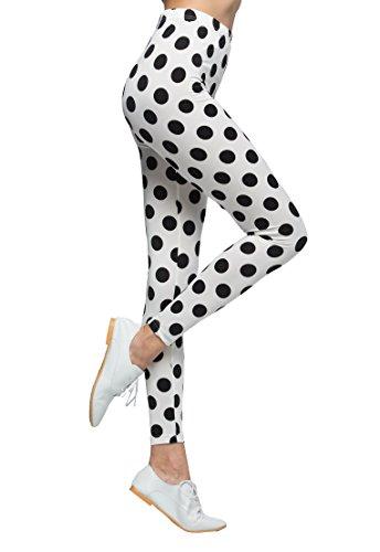 [Sofishie Polka Dot Leggings - Medium - Black Dot] (Dalmatian Ears)
