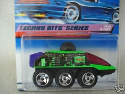 Mattel Hot Wheels 1998 1:64 Scale Techno Bits Series Green & purple Radar Ranger Die Cast Car 4/4 - 1