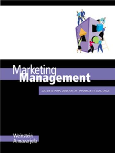 Marketing Management: Cases for Creative Problem Solving
