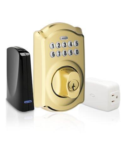 Schlage Link Deadbolt Lock Kit - Bright Brass