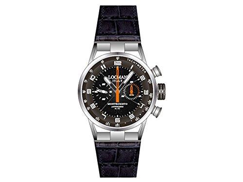 Locman montre homme chronographe automatique Montecristo 0514V04-00BKOPSK