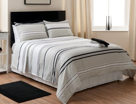 Speltex King Size Luxury Bedspread White, Black, Grey