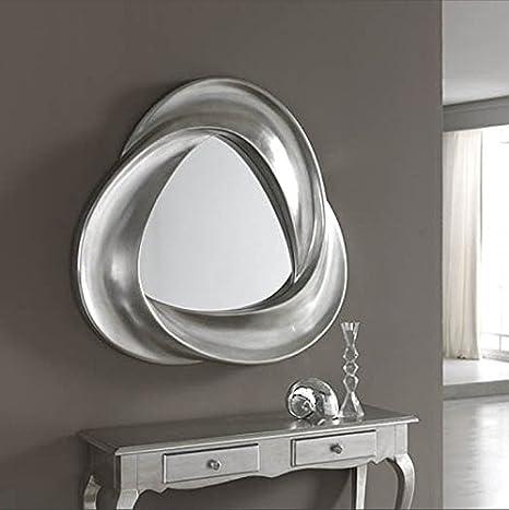 dugarhome–Mirrors Modern Ribbons–Silver–ibergada