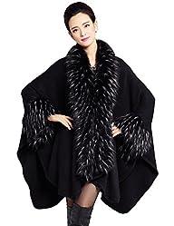 Zattcas Women's Faux Fur Shawl Pashmi…