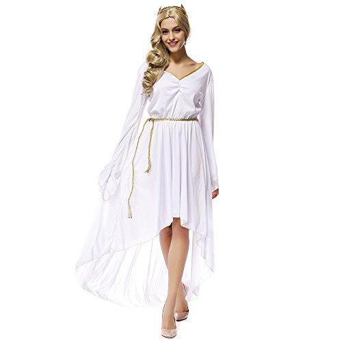 [Greek Goddess Athena Cosplay Halloween Costume] (Athena Adult Costumes)