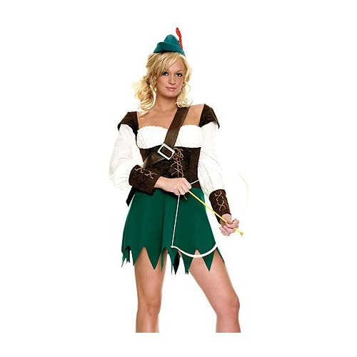 Adult Halloween Costumes: Sexy Girls in Forest Hunter - Womens Sexy Female Super Hero Costume