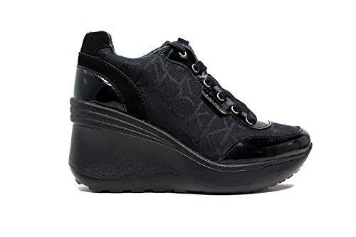 Calvin Klein Jeans RE9236 Nero Sneakers Scarpe Donna Casual Sportive Zeppa