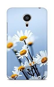 Amez designer printed 3d premium high quality back case cover for Meizu MX5 (daisy flowers)