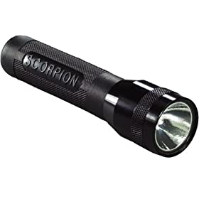 Streamlight 85001 Scorpion 2-Lithium Xenon Flashlight, Black